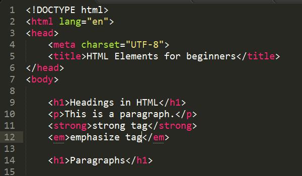 نمونه کد html