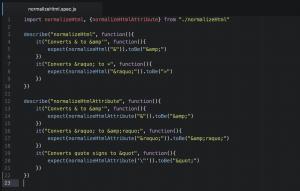نمونه کد جاوا اسکریپت
