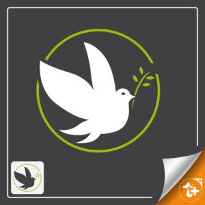 لوگو کبوتر / لوگو پرنده صلح