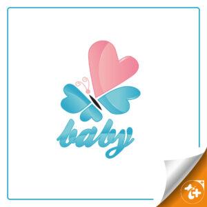 لوگو پروانه – لوگو پروانه با بال های قلبی
