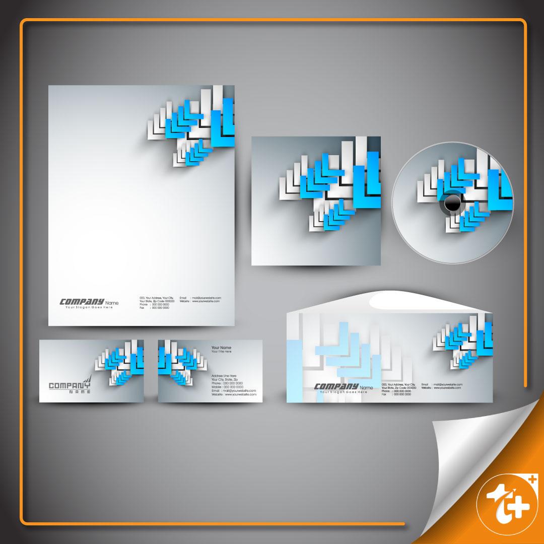 طرح سه بعدی اوراق اداری