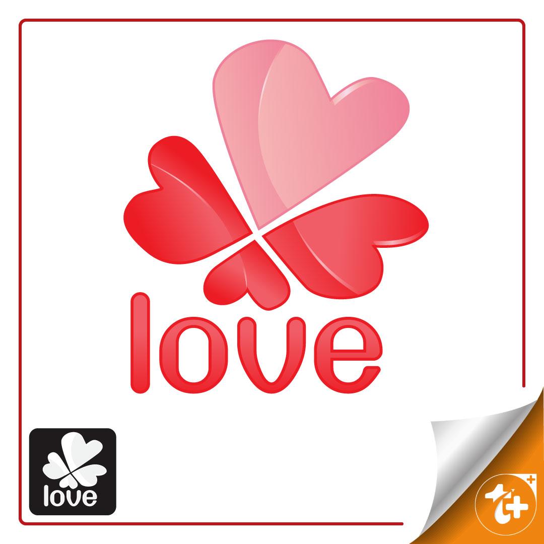 لوگو قلب به شکل پروانه