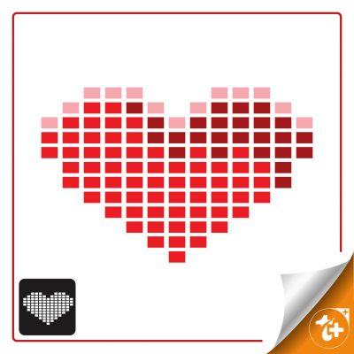 لوگو قلب پیکسلی