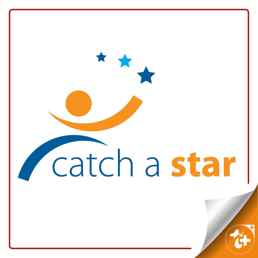 طرح لایه باز لوگو انتزاعی ستاره و کارکتر