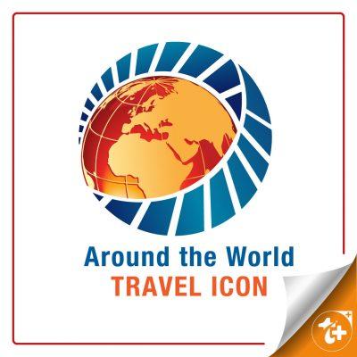 طرح لایه باز لوگو مسافرت دور دنیا – کره زمین