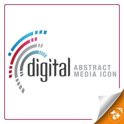 لوگو کسب و کار های دیجیتال انتزاعی