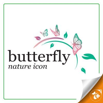 لوگو پروانه ها ، مناسب سالن زیبایی