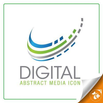 لوگو انتزاعی دیجیتال