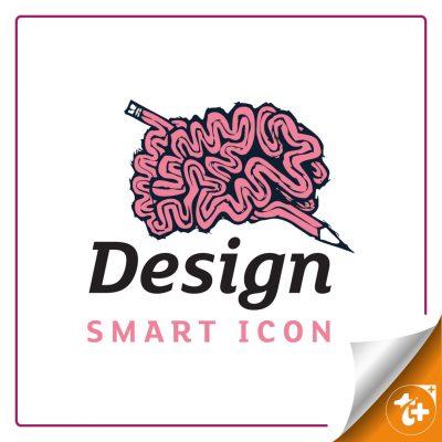لوگو مغز و مداد – مفز هوشمند – تفکر هوشمند