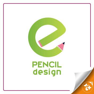 لوگو مداد و حرف e