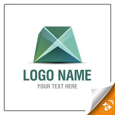 لوگو انتزاعی هندسی سنگ تزئینی