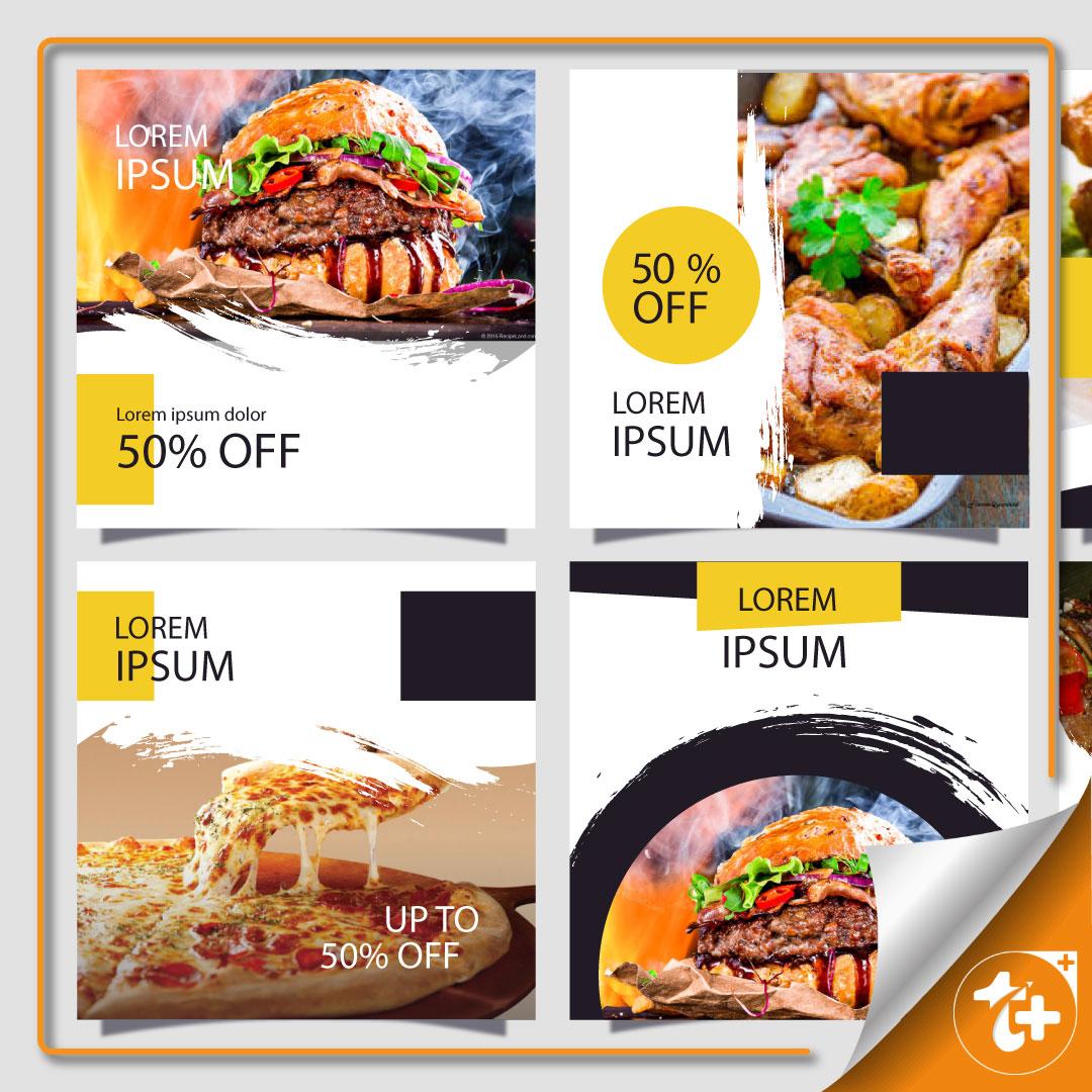 قالب پست اینستاگرامی تصویری – رستوران و غذا