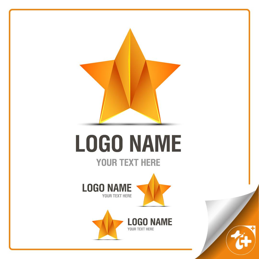 طراح لایه باز ستاره – لوگو ستاره طلایی