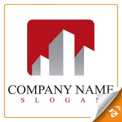 نمونه لوگو لایه باز برای شرکت ساختمان سازی