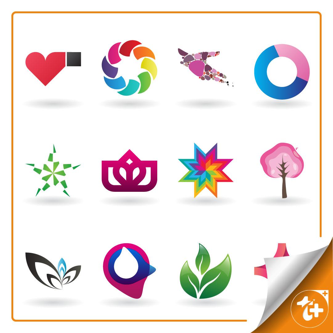 پک لوگو مینیمال گیاهان – لوگو درخت – لوگو قلب – لوگو پرنده و …