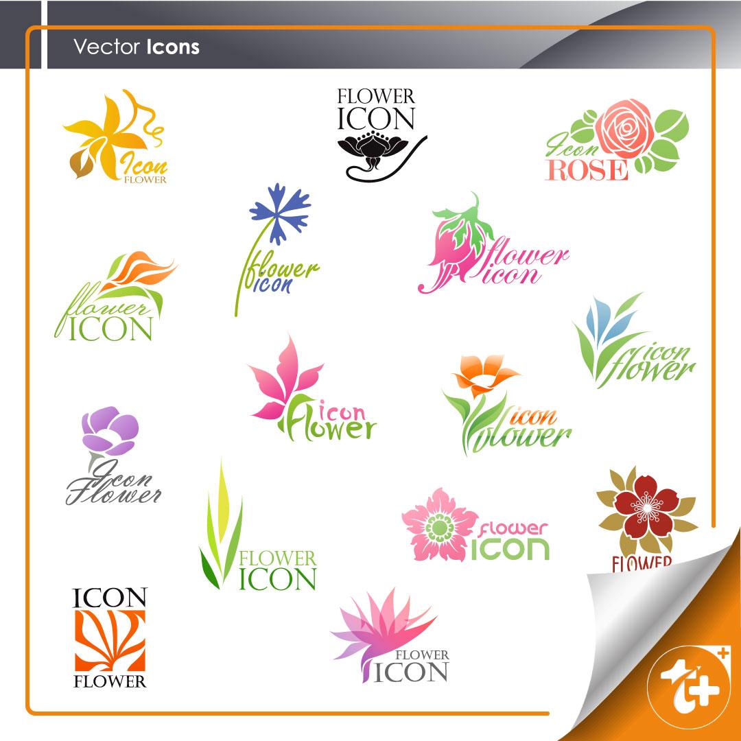 پکیج لوگو گل فروشی 10 طرح متنوع