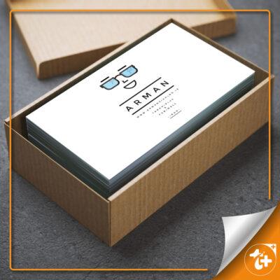 موکاپ کارت ویزیت در باکس مقوایی بسیار شیک