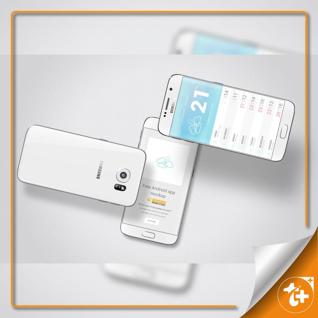 موکاپ گوشی موبایل سامسونگ s6