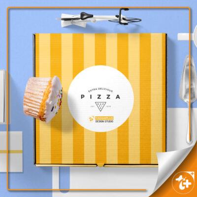 موکاپ جعبه پیتزا رایگان