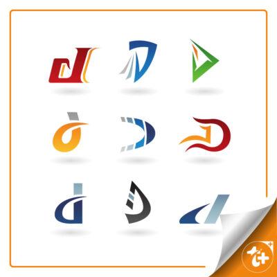 مجموعه لوگو حرف D