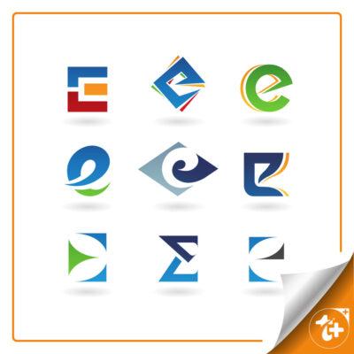 مجموعه لوگو حرف E