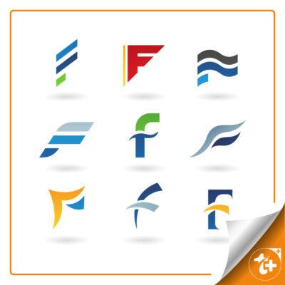 مجموعه لوگو حرف f